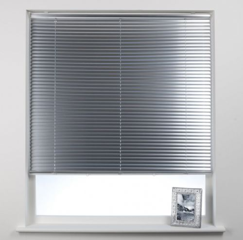 Swish Cordless 25mm Aluminium Venetian Blind - Brushed Aluminium